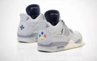Nike Air Jordan 4 version SNES
