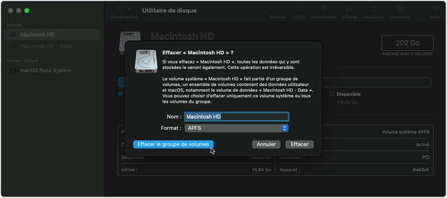 Format macOS disk