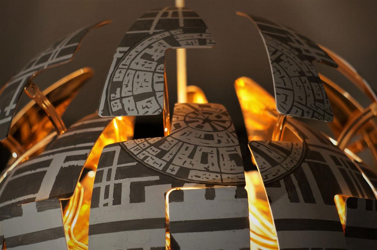 star wars : comment transformer votre lustre ikea en Étoile de la mort