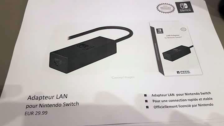 nintendo switch adaptateur lan