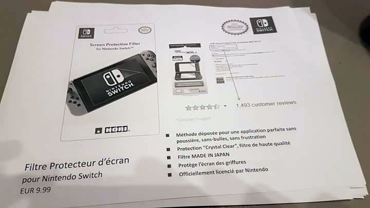 nintendo switch filtre ecran