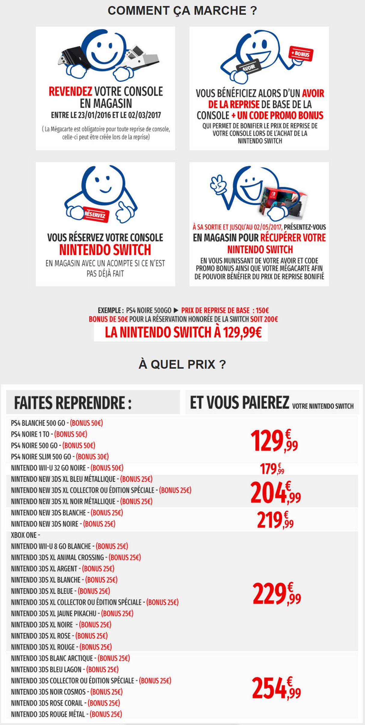 Nintendo switch la console partir de 129 99 chez - Quel est la meilleur console ps4 ou xbox one ...