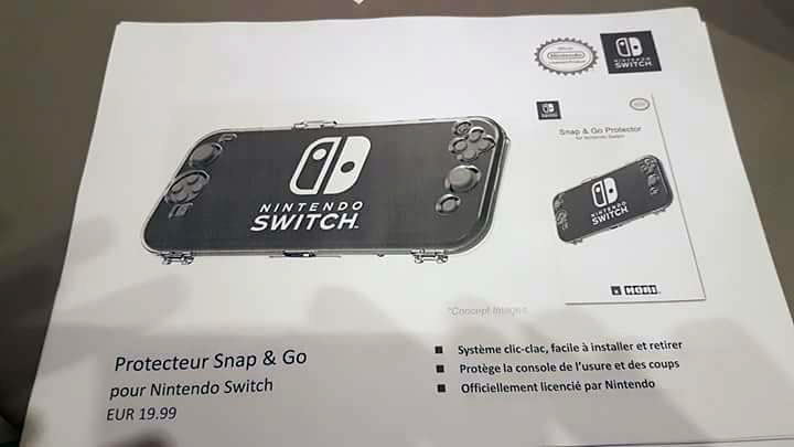 nintendo switch protecteur snap go
