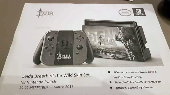 nintendo switch zelda skin set