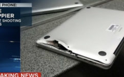Son MacBook Pro arrête une balle pendant une fusillade et lui sauve la vie