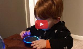 Dans cette vidéo Alexa d'Amazon propose du porno à un enfant