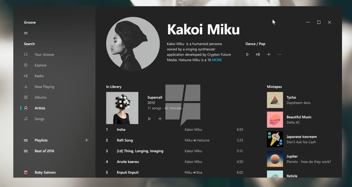 windows 10 interface neon