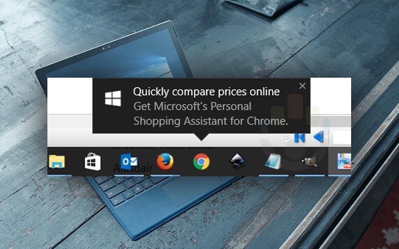 windows 10 veut vous vendre extension chrome coup pub forcee