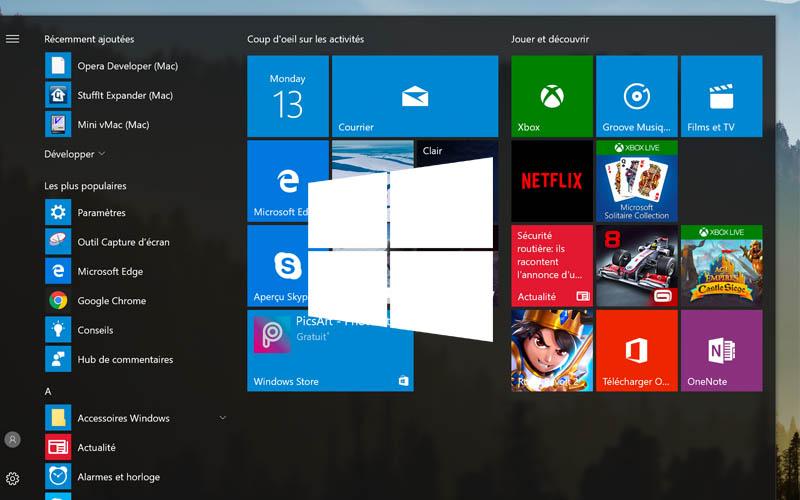 comment sauvegarder agencement menu demarrer windows 10