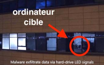 Des hackers volent des fichiers à distance via la LED du disque dur, en vidéo
