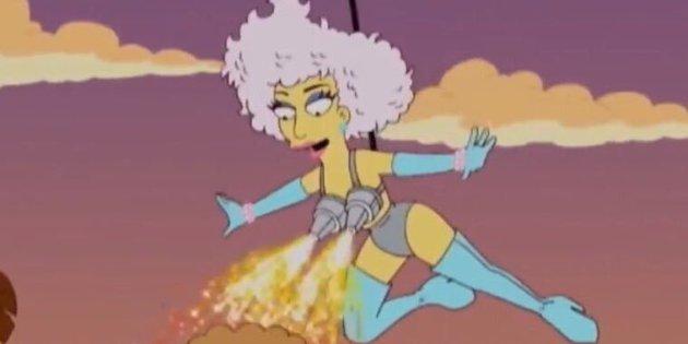 Lady Gaga dans les Simpsons