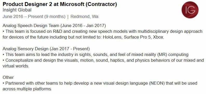 Microsoft Product Designer