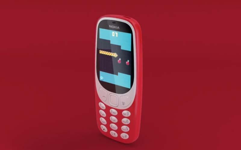 jeu Snake sur le Nokia 3310 (2017)