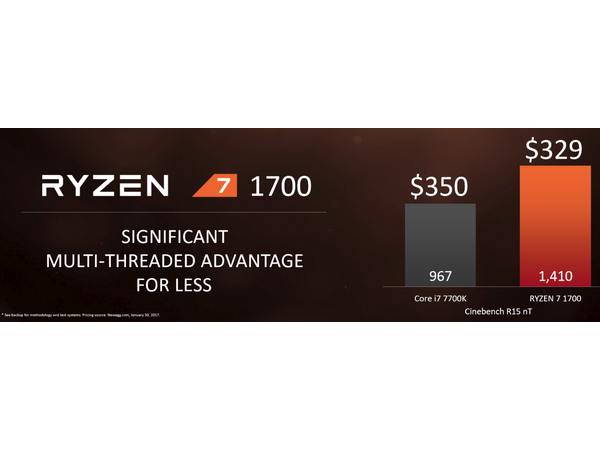 ryzen 7 1700 cinebench comparaison