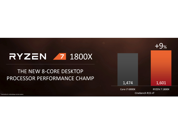 ryzen 7 1800x cinebench comparaison
