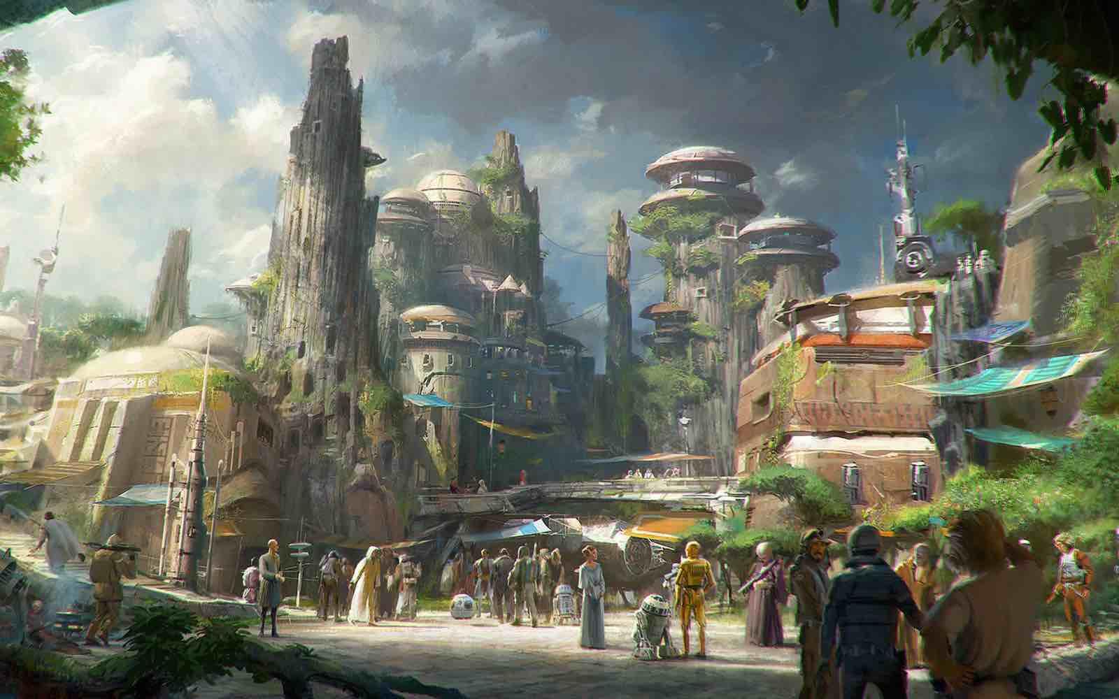 Star Wars-Themed Land Concept artiste