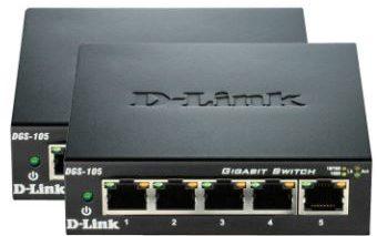Bon plan : Pack de 2 Switches Reseau D-LINK DGS-105 à 25.42 €