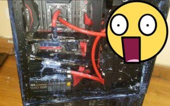 Le transport de ce PC watercoolé sans protection s'est très mal fini !