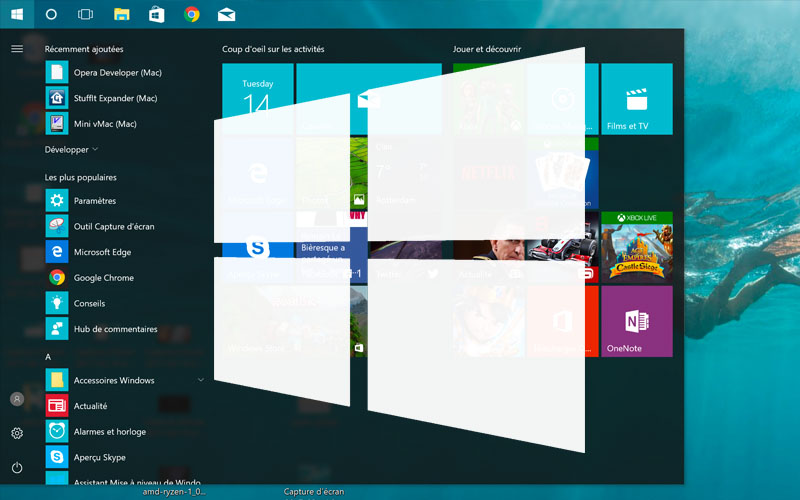 windows 10 comment rendre barre des taches transparente