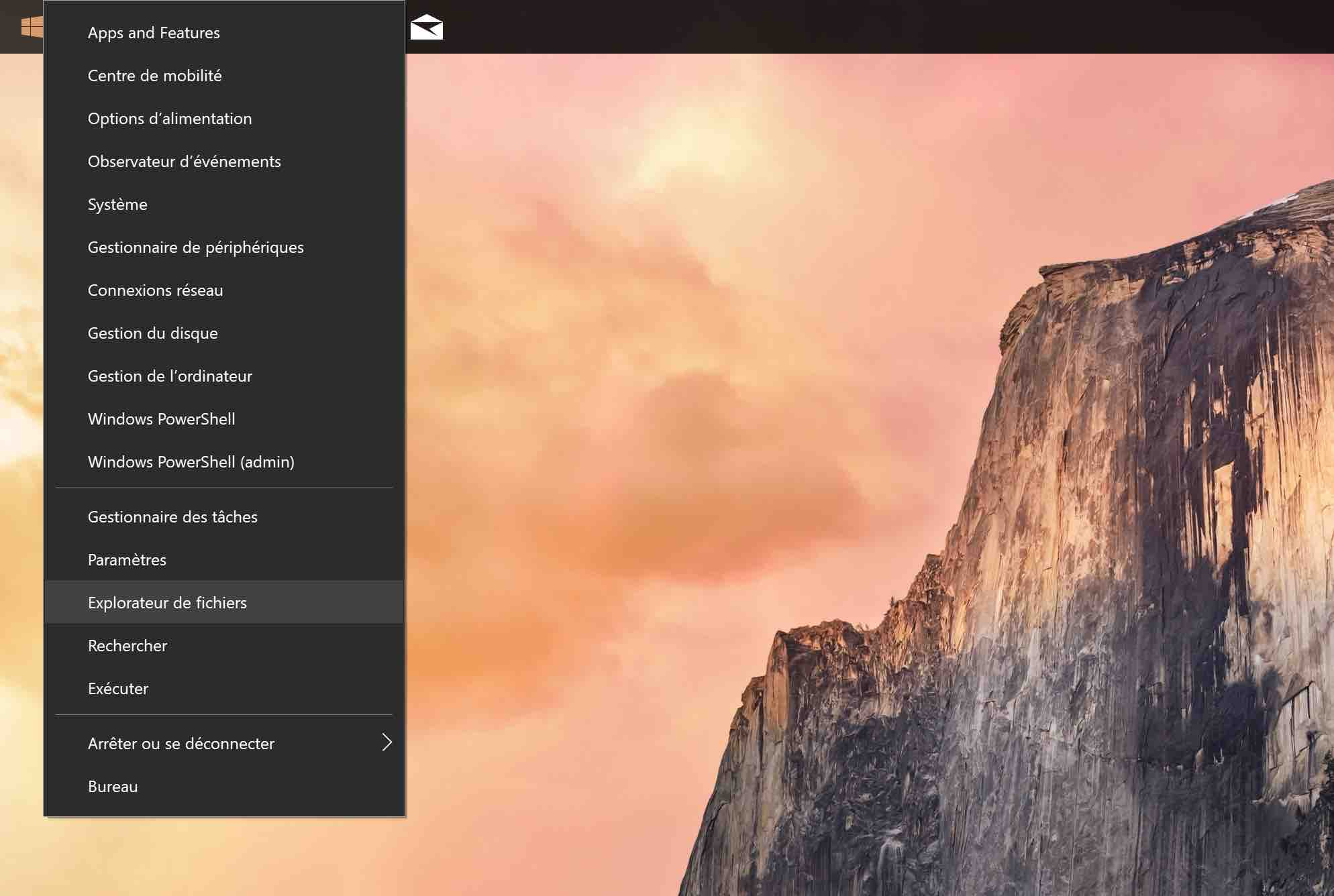 windows 10 demarrer explorateur fichiers