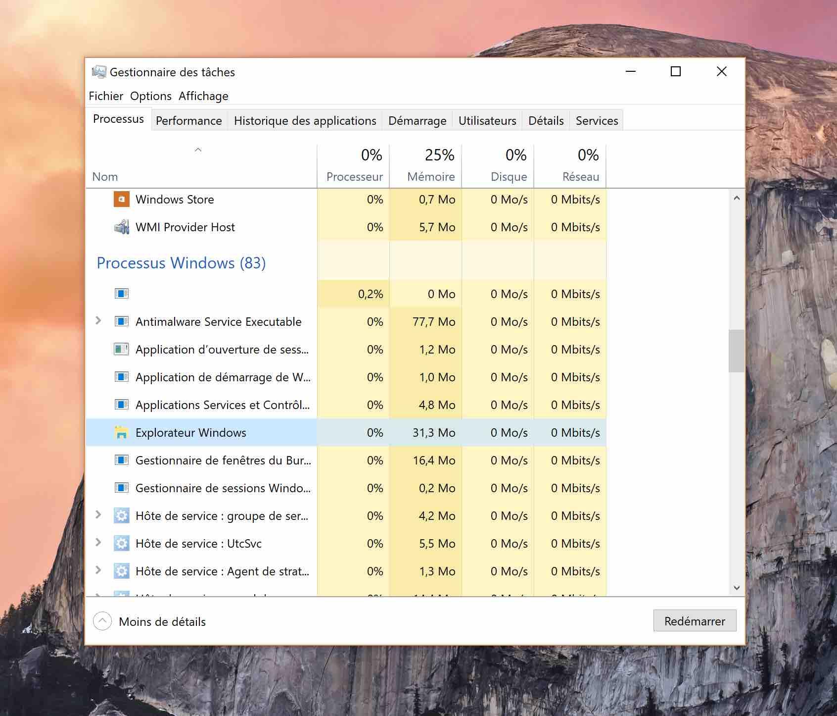 windows 10 gestionnaire taches explorateur fichiers