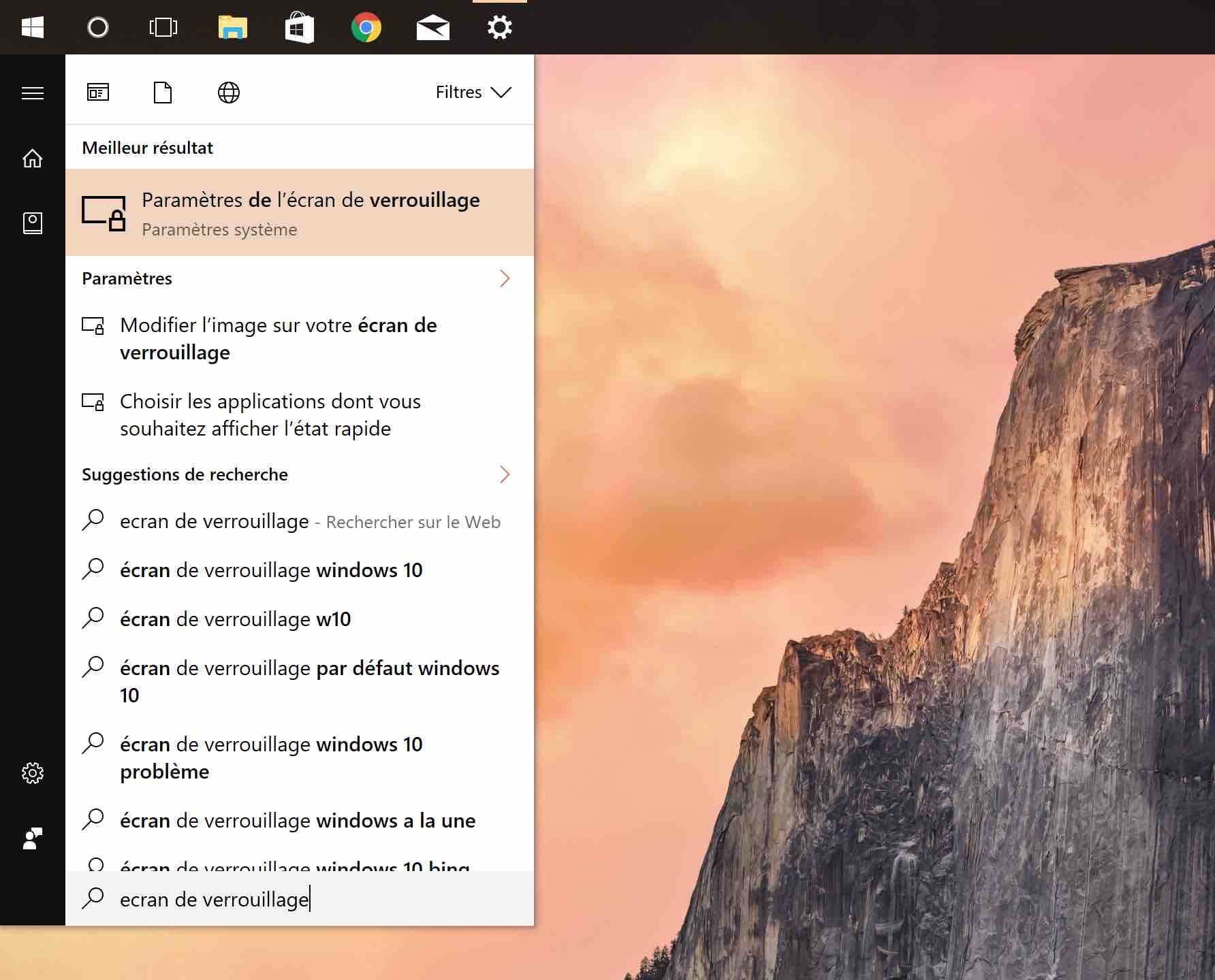 windows 10 parametres ecran verrouillage