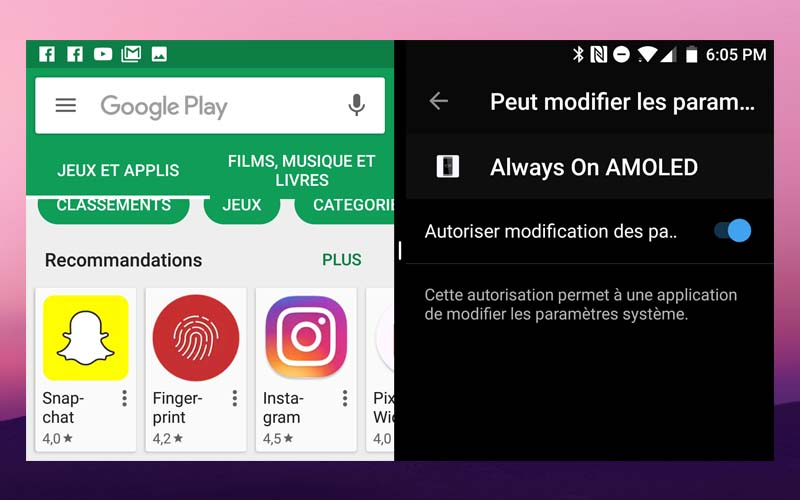 Android nougat comment afficher deux applications for Multi fenetre android