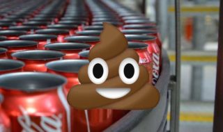 coca cola canettes irlandaises dejections humaines