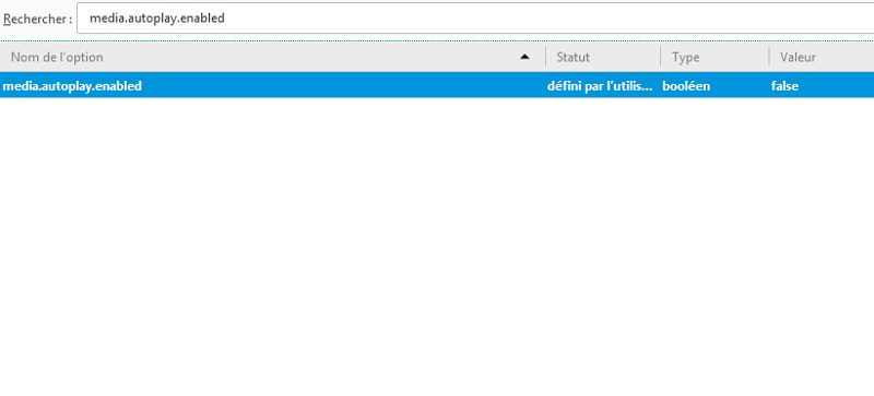 Désactiver lecture automatique vidéo HTML5 sur Firefox
