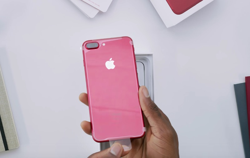 iphone 7 rouge unboxing ce d ballage et premi re prise. Black Bedroom Furniture Sets. Home Design Ideas