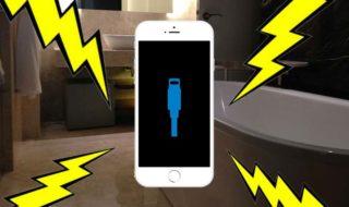 iphone utilisateur meurt electrocute bain charger