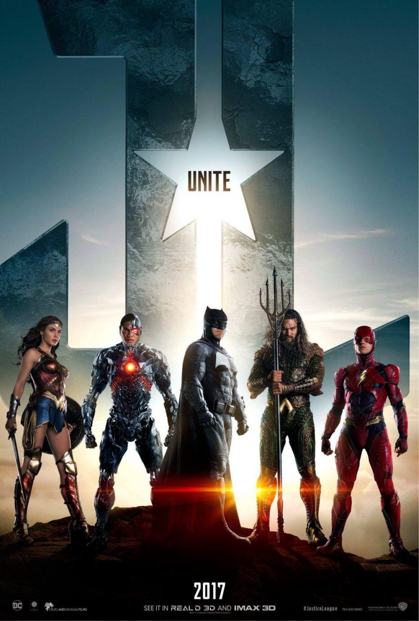 Le poster de Justice League