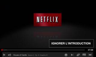 Netflix teste le bouton passer le générique