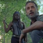 Rick et Michonne dans The Walking Dead