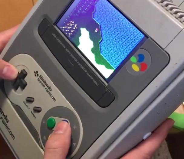 super nintendo portable video