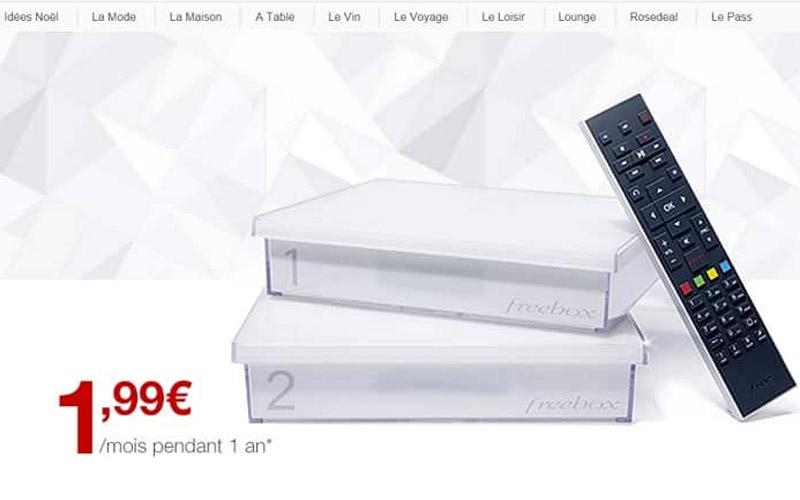 La Freebox Crystal à 1.99 €/mois pendant un an — Vente privée