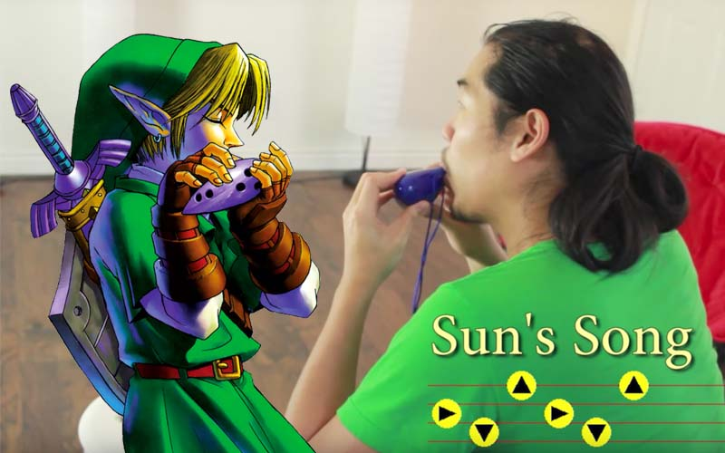 zelda fan controle son ocarina magique video