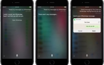 Siri peut désormais lire vos messages WhatsApp