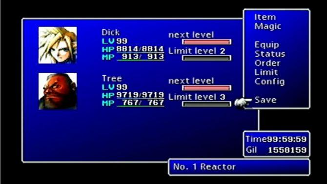 Final Fantasy VII niveau 99