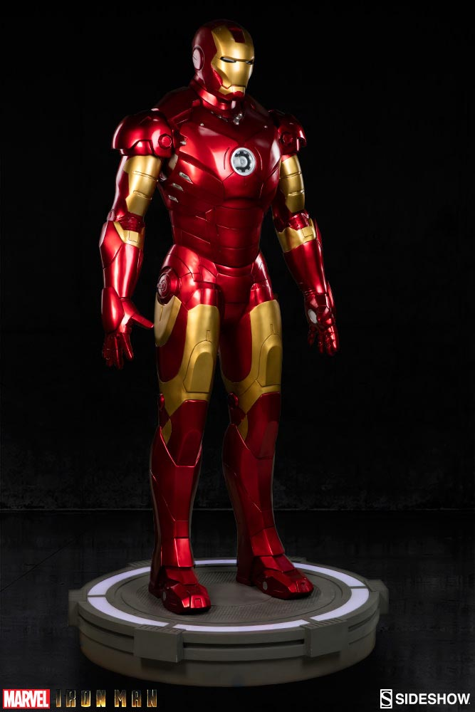 iron man statue colossale 8000 dollars fans