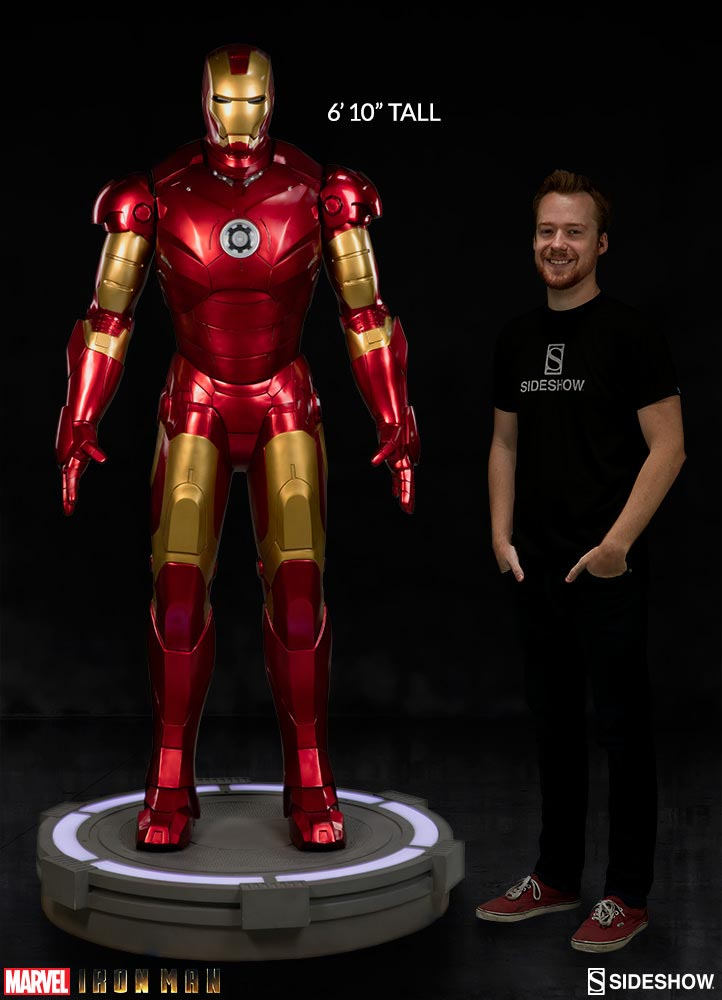 iron man statue colossale 8000 dollars fans comparaison