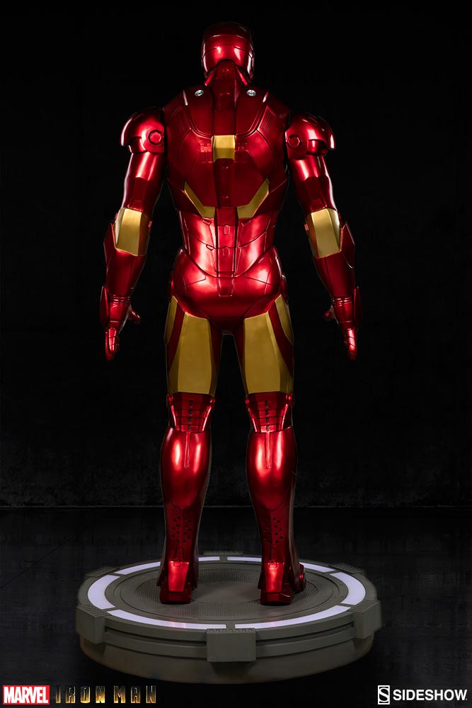 iron man statue colossale 8000 dollars fans dos