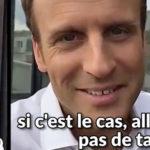 snapchat macron conseille etudiant craquer prof video