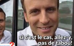 Snapchat : Macron conseille à un étudiant de craquer comme lui pour sa prof, en vidéo