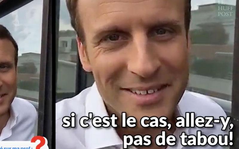 Le conseil d'Emmanuel Macron à un jeune qui veut séduire sa prof