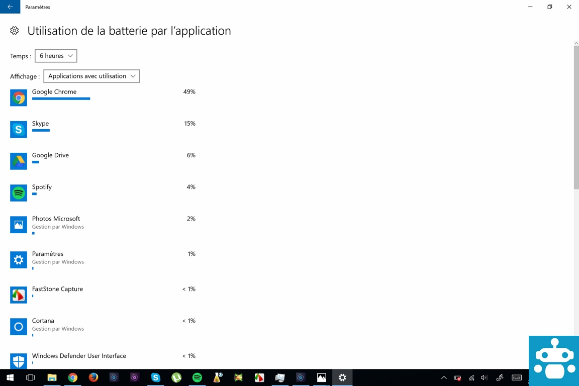 test surface pro 4 autonomie batterie