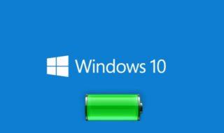 Windows 10 batterie