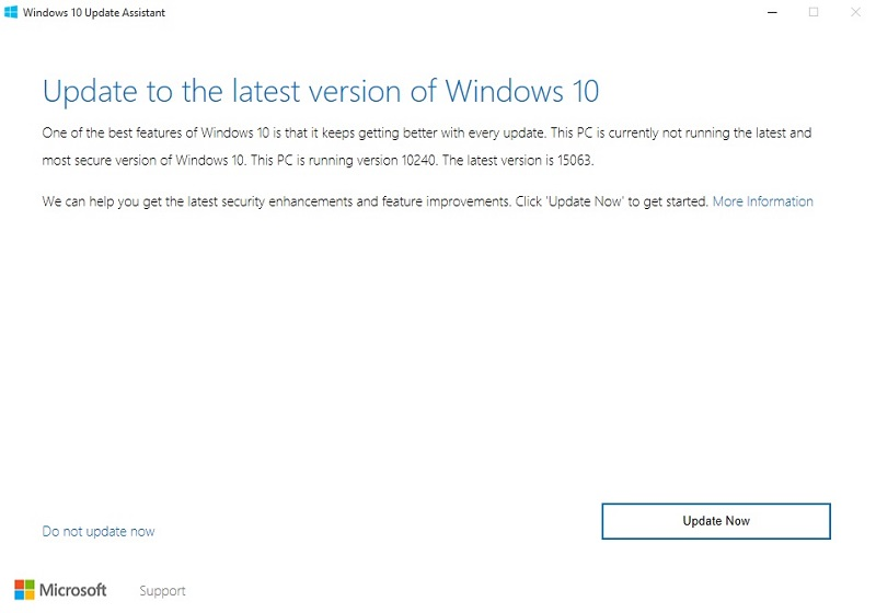 Windows cerators update