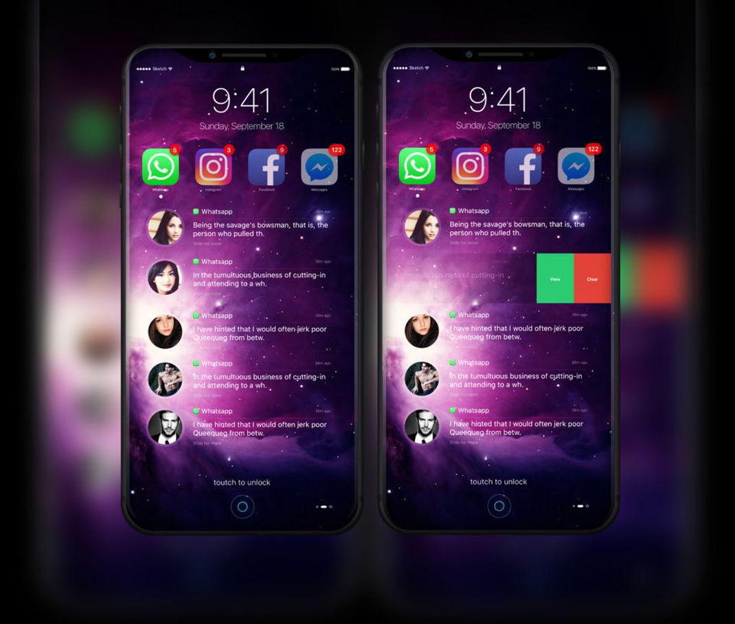 Iphone 8 ios 11 pourrait ressembler ces quelques for Photo ecran ios 11