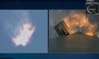 SpaceX : cette vidéo inédite du retour de la fusée Falcon 9 sur Terre est vertigineuse